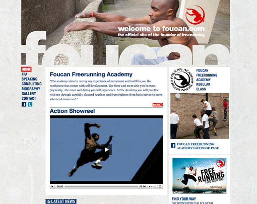 Foucan Free Running Wordpress website